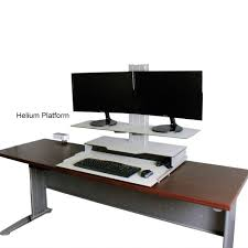 Dual Monitor Stand Up Desk by Helium Standing Desk Converter