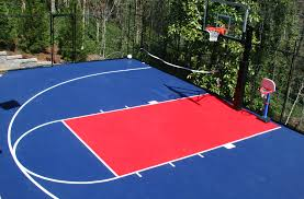 incstores outdoor basketball kit half court kit 20ft x 24ft 480