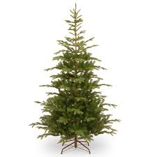 Artificial Christmas Tree Unlit by 7 5 Ft Feel Real Hinged Norwegian Spruce Slim Artificial