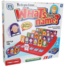 Image Is Loading GUESS WHO WHATS THEIR NAME BOARD GAME 48