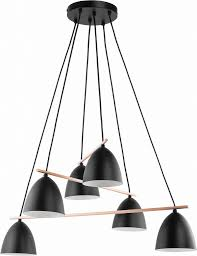 beleuchtung hängele schwarz gold verstellbar 5 flmg