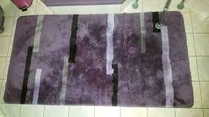 lila kibek badteppich