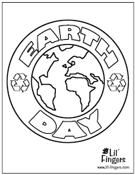 Printable Earth Day Coloring Pages At Lil Fingers