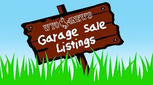Garage Sales Listing July 27 30 2017