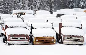 100 Trucks In Snow Hits The Northeast