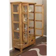 Vancoover Rustic Oak Display Cabinet