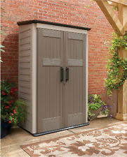 large vertical storage shed rubbermaid weather resistant garage