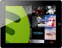 Spotify for iPad Music sharing site unveils app designed for