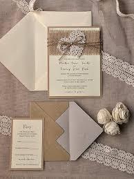 Rustic Wedding Invitation Burlap Wedding prop³sitos