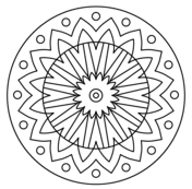 Mandala With Floral Pattern