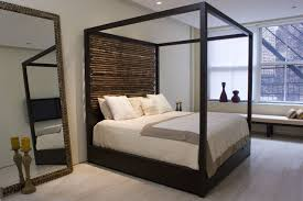 canopy bed pleasant canopy bed with hand tied bamboo headboards
