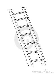Ladder Coloring Pages Printable Sketch Page