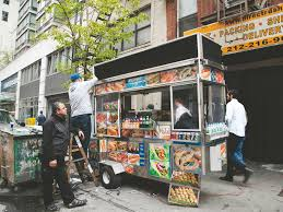 100 Halal Truck Food Carts Grilling With Charcoal Cause Heavy Pollution On City Streets