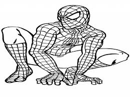 Image Of Spiderman Coloring Pages Free
