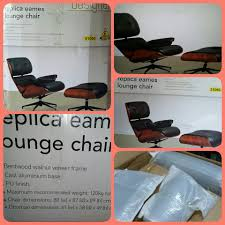 SOHL Furniture Designer Replica Eames... - K4 Chestnut ... Eames Lounge Chair Ottoman Replica Aptdeco Black Leather 4 Star And 300 Herman Miller Is It Any Good Fniture Modern And Comfort Style Pu Walnut Wood 670 Vitra Replica Diiiz Details About Palisander Reproduction Set