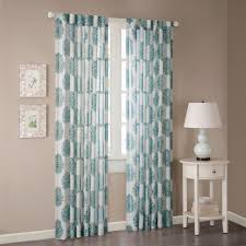 Nate Berkus Sheer Curtains by Madison Park Emerson Burn Out Sheer Curtain Panel Arabesque