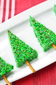 Rice Krispie Christmas Tree Pops by Christmas Tree Desserts The Best Christmas Tree Desserts