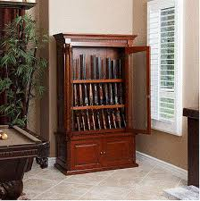 Wooden Gun Cabinet With Etched Glass by Wood Gun Display Cabinet Roselawnlutheran
