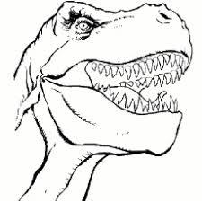 Dangerous Dinosaur Face Coloring Pages