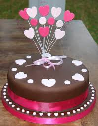 Heart birthday chocolate cake