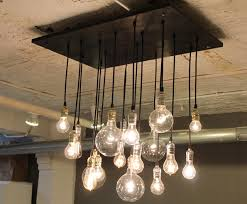industrial lighting one of our wooden slab tables is a site