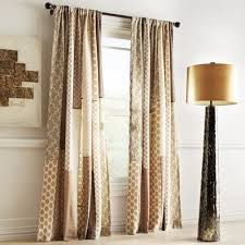 Pier 1 Imports Curtain Rods by Sari Patchwork Metallic Curtain Pier 1 Imports