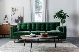 Green Velvet Sofa Best Of Danell Cotton Grass Modern Jovili