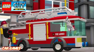 100 Lego Fire Truck Games Fire Truck Lego Movie Lego Cars Videos For Children Kids