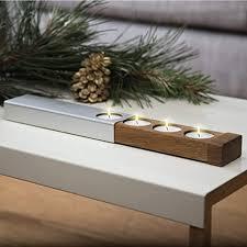 konstantin slawinski adventskranz modern teelichthalter design weihnachtsdeko aus holz metall für tisch fenster inkl teelichter