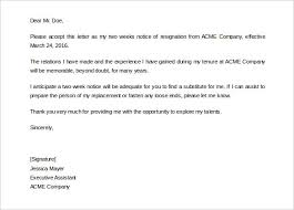 2 weeks notice letter Asafonec