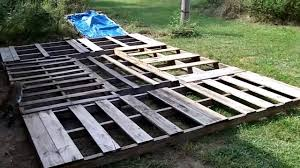Cheap Shed Floor Ideas by Portable Garage Part 1 Building The Base Youtube