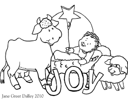 Christmas Nativity Coloring Pages Free 1
