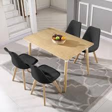 esstisch mit 4 stühlen schwarz esszimmer real de