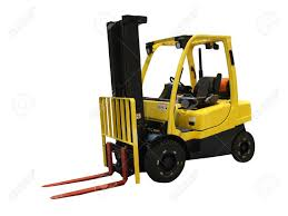 100 Industrial Lift Truck An Motorised Yellow Fork Stock Photo Picture