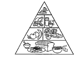 Food Pyramid Coloring Pages For Kids