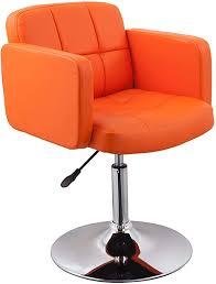 clubsessel sessel kunstleder orange esszimmerstuhl lounge