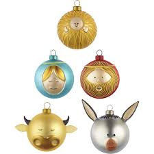 Le Palle Presepe Small Christmas Ornaments By Alessi Set Of 5