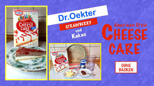 dr oetker cheese cake strawberry und kakao american style ohne backen kuchenmischung