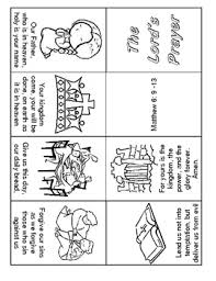 Lords Prayer 1 Page Minibook Easy To Read