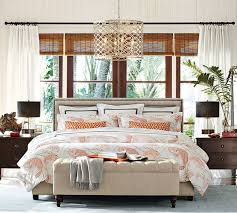 Pottery Barn Master Bedroom by Lorraine Tufted Storage Bench Pottery Barn Au