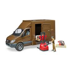 Bruder Toys Play MB Sprinter UPS Van With Driver, Pallet Jack And ...