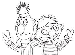 Click To See Printable Version Of Cool Bert And Ernie Coloring Page
