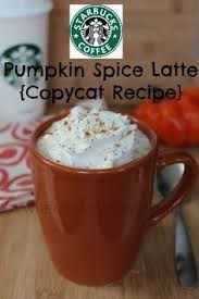 When Are Pumpkin Spice Lattes At Starbucks by Make Your Own Starbucks Pumpkin Spice Latte Recipe Starbucks