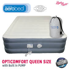 Aerobed Queen Air Bed With Headboard by Aerobed Opticomfort Queen Love Mum Inflatable Mattresses