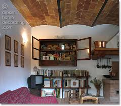Restored Living Room Area In A Tuscan Farmhouse With Barrel Vault Brick Ceiling