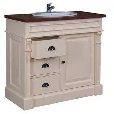casa padrino landhaus stil waschschrank waschtisch inkl 1 waschbecken creme braun bad schrank