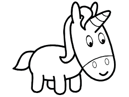 Coloring Pages Of Baby Unicorns Cute Unicorn Printable Co