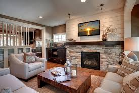 Beige Sectional Living Room Ideas by Stone Wall Fireplace Living Room Contemporary With Stone Fireplace