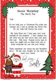 Christmas Santa & Rudolph A4 Child s Letter from Santa