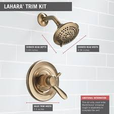 Delta Lahara Faucet Champagne Bronze by Delta T17238 Cz Lahara Monitor 17 Series Shower Trim Champagne
